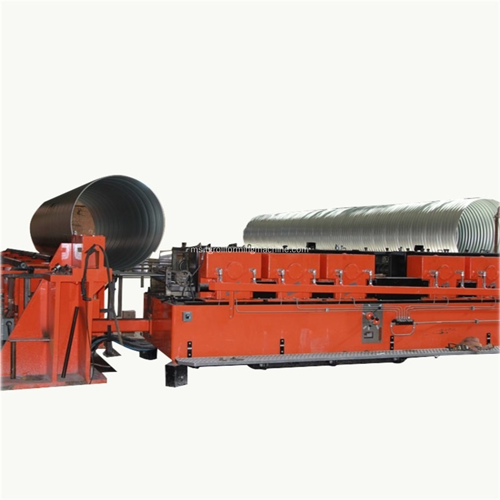 Metal Pipe Corrugated Culvert Machine
