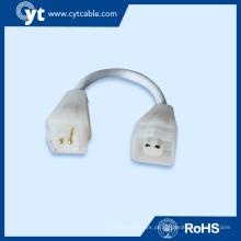 Fios de conector eletrônico plana de 3 pinos para iluminação de tubo de LED