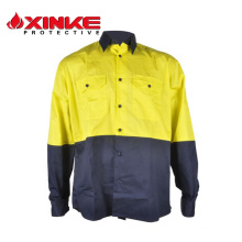 Hi-Vis Cool Breeze Two Tone Cotton Work Shirt