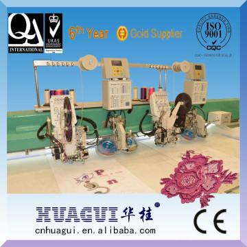 HUAGUI novo 2 cabeças ZSK hot fix máquina de bordar de cristal