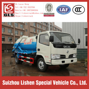 Dongfeng 4*2 Sewage Suction Truck Used Vacuum