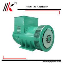 Alta eficiencia 60kva pequeño generador ac italia monofásico bajo rpm alternador