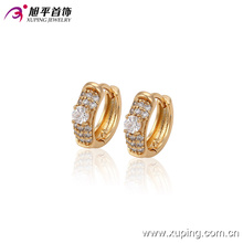 90370 xuping latest fashion crystal hoop copper alloy earring for ladies