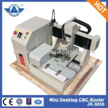 Desktop machine for metal engraving with rotary