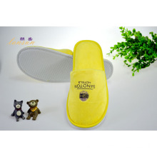 Yellow Cotton Velour Slipper Offset Printing Slipper