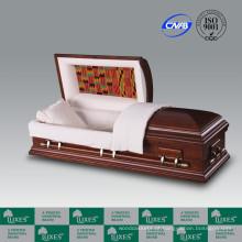 Alta qualidade por atacado estilo americano caixão de caixão de madeira sólida para Funeral