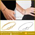 2017 Wholesale New Designer Simple Circle Charm Symbol Jewelry Girls' Infinity Stainless Steel Bracelet