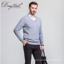 La manga larga al por menor de los hombres más bajos de Moq V espesa los suéteres calientes de la fábrica china