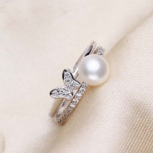 Fake Pearl Engagement Ring Designs för kvinnor