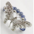 Sodalite Gemstone Bracelet with Diamante alloy big butterfly Piece