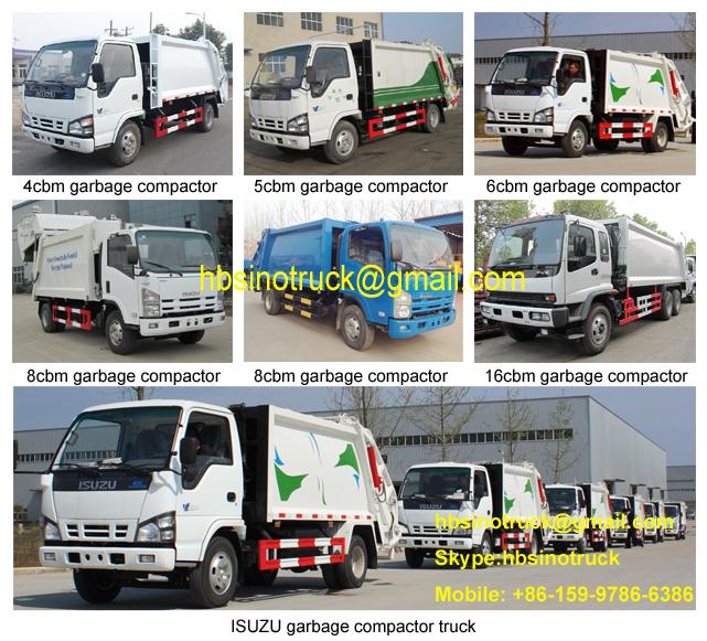 ISUZU garbage compactor truck