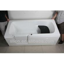 Акриловая ванна для детей или пожилых людей / прогулка в ванной