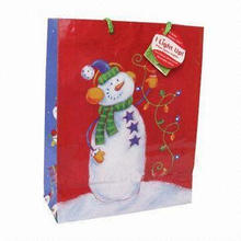 LED Light Paper Gift Bag, Eco-friendly, Lead-free, Customized Designs Available
