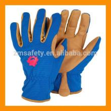 Gants protecteurs de jardin en cuir d'enfants pour le travail et la sécurité de jardinage