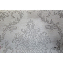 Tissu de jacquard de fenêtre de lin de polyester de vente chaude