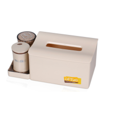 Multi-function Rectangular Tissue Box with Toothpick Holder