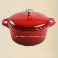 Pot de casserole en fonte d'émail de Chine 3.5L