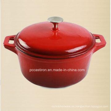 China Esmalte de hierro fundido cazuela Olla 3.5L