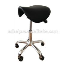 muebles del salón del peluquero comercial de la PU negra con el asiento inclinable