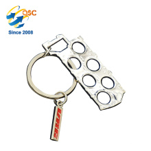 New Design Hot Selling Custom Fashion Gold Wholesale Stamped Metal Keychain