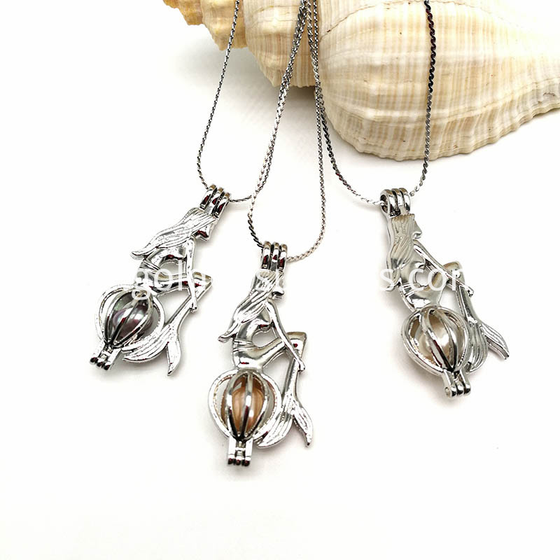 Silver New Style Mermaid Cage Pendant