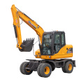 6 ton wheel excavator XN75B for sales 0.3cbm bucket excavator