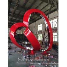 Modern Famous Arts Résumé Sculpture en acier inoxydable pour décoration extérieure