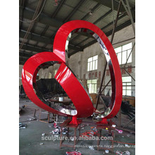 Modern Famous Arts Abstract Stainless steel Sculpture for Outdoor decoration