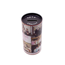 Custom Logo Printed Cylindrical Paper Tube Round Paper Piggy Bank packaging boxes