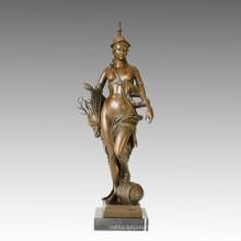 Nude Figure Statue Huntress Bronze Sculpture TPE-030