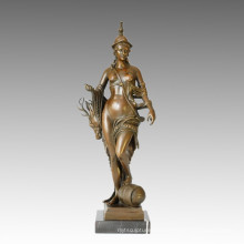 Nude Figure Statue Huntress Bronze Sculpture TPE-030