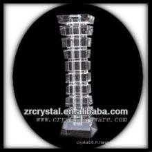 Beau vase en cristal L019