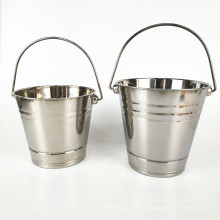 Promotion Barware Beer Wine Ice Bucket / Double Wall Stainless Steel  Ice Bucket with Handle