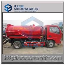 Dongfeng 4X2 Rhd 4 Cbm Sewage Vacuum Suction Tanker