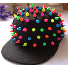 Lovely coloré de mode candy Hip-hop Punk Snapback Cap Rivet Flat brim casquette de Baseball