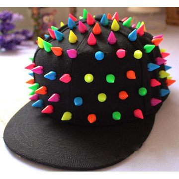 Fashion Lovely Colorful candy Hip-hop Punk Snapback Cap Rivet Flat-brim Baseball Cap