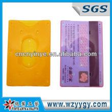 claro caso de tarjetas de plástico personalizadas con impresión de la insignia