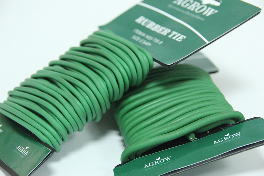 Rubber Twist tie Garden Flexible Ties Reusable Rubber TwistTie Green Soft Twist Tie for Plants,Twist Tie Wire in Side,