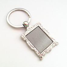 Porte-clés en métal en alliage de zinc promotionnel avec logo personnalisé (F1129)