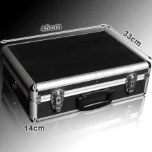 Aluminum Business Case Hardsided Metal Attache Briefcase - Black