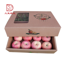 Made in China new custom paper window packaging fresh fruit box
