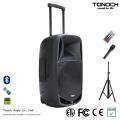 Boa Qualidade 15 Polegadas de Plástico Trolley DJ Speaker com Bateria