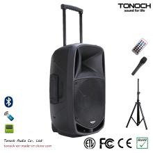 Gute Qualität 15 Zoll Kunststoffwagen PRO Audio mit Batterie