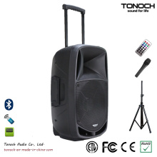Good Quality 15 Inches Plastic Trolley PRO Audio with Battery