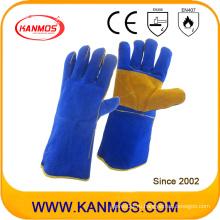 Рукавицы для рабочей сварки из искусственной кожи из натуральной кожи (11112)