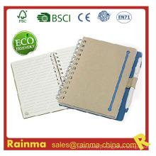 Notebook de papel de alta qualidade com caneta ecológica