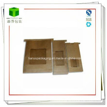 Kaffeebohne Kraftpapierbeutel mit Zinnbindung