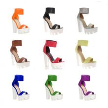 Sandálias de vestido de senhora de salto alto novo design (S07)