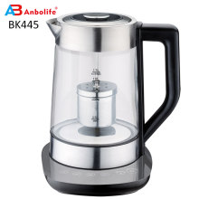 Tea maker 1.7 L  Fast Heating 360 Degree Rotated Cordless Water Boiler Glass Electric Kettle