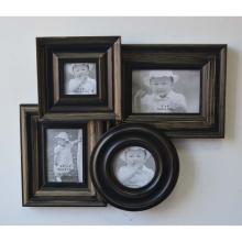 Antiguo collage marco para la pared en 4 de apertura